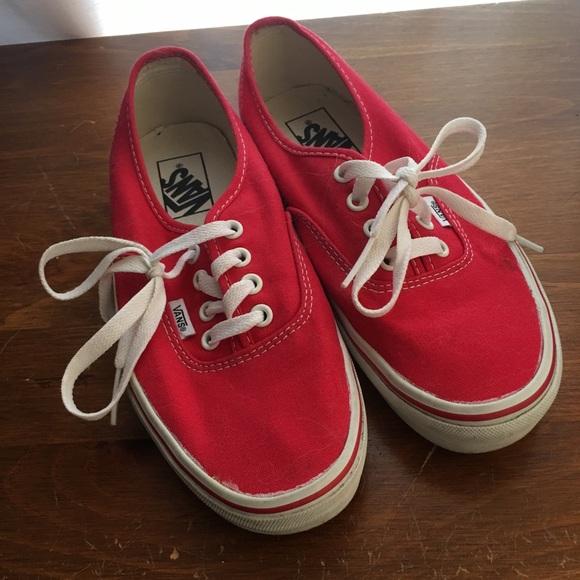 cab6650a132626 Vans Shoes - Red Vans Authentic Women s 7.5